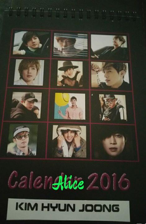 Kim Hyun Joong Calendar 2016
