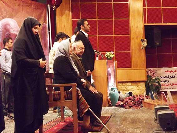 مراسم نکوداشت درویشعلی بهروان اینانلی در بوئین زهرا