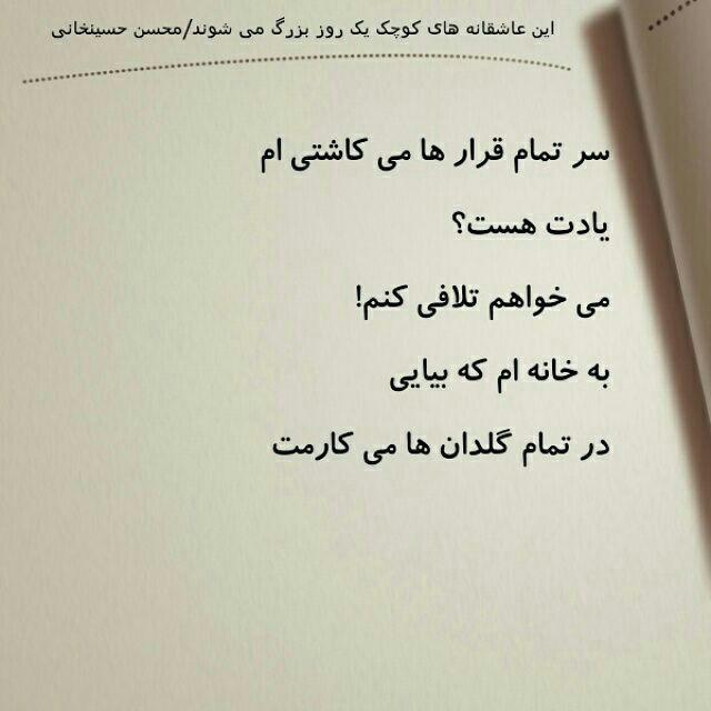 شعروگرافی، محسن حسینخانی
