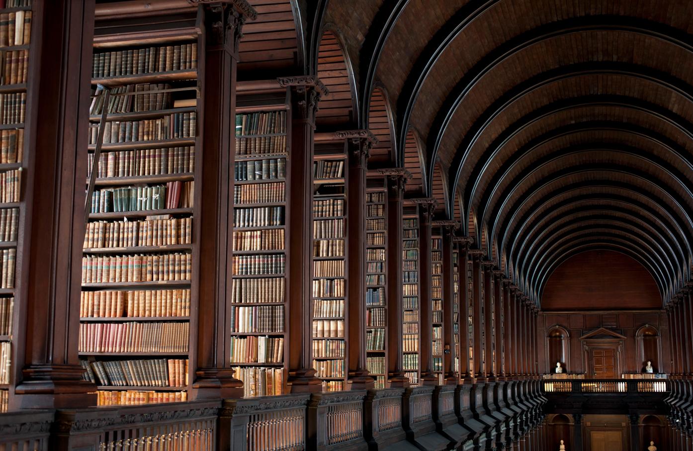Trinity College Library Dublin Ireland - خیالباف -daydreamer