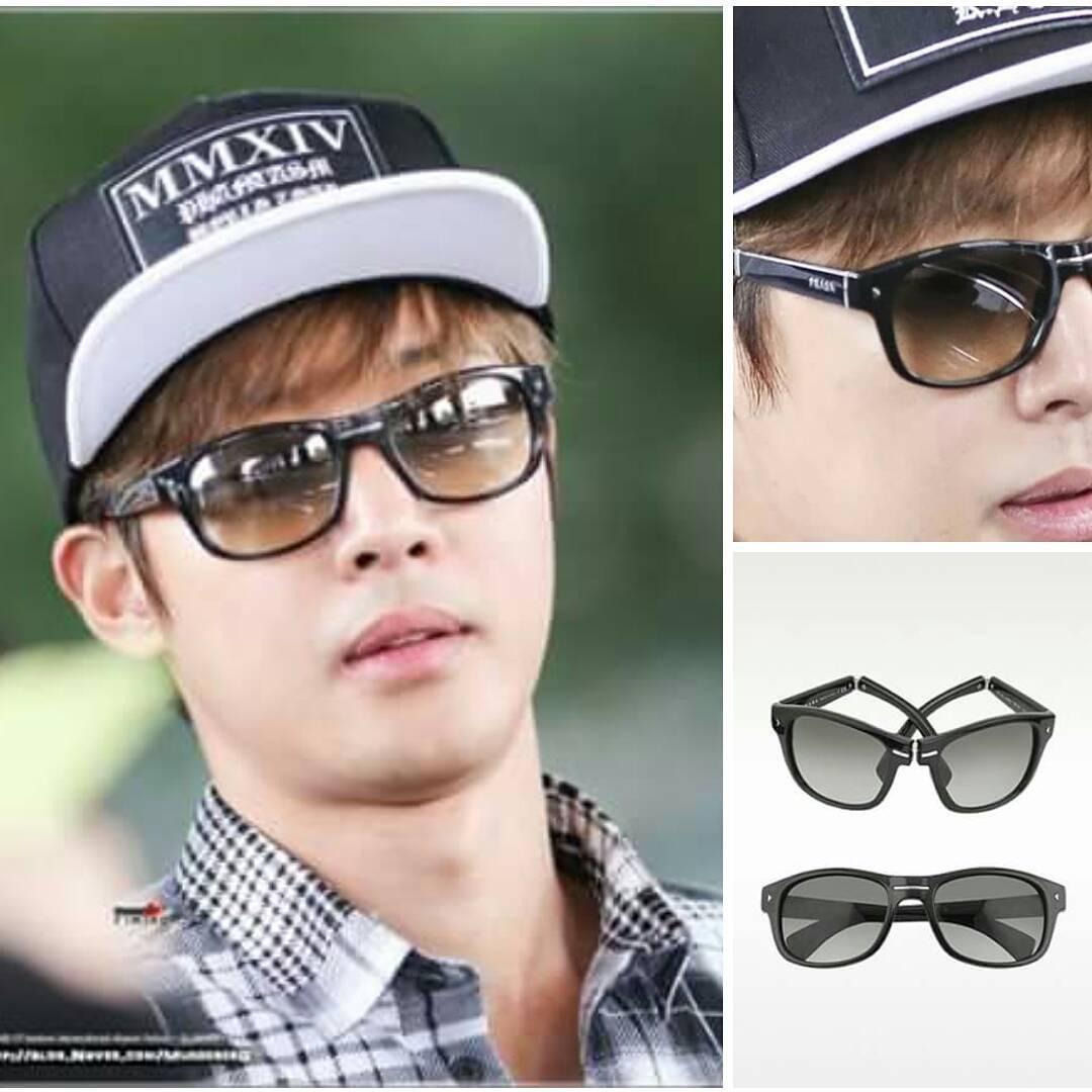 Sponsor - Gray Signature Plastic Sunglasses