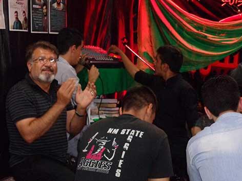 مراسم جشن عید غدیر مراسم هیئت زوّارالحسین(ع) در حسینیه شهید ت آبادی