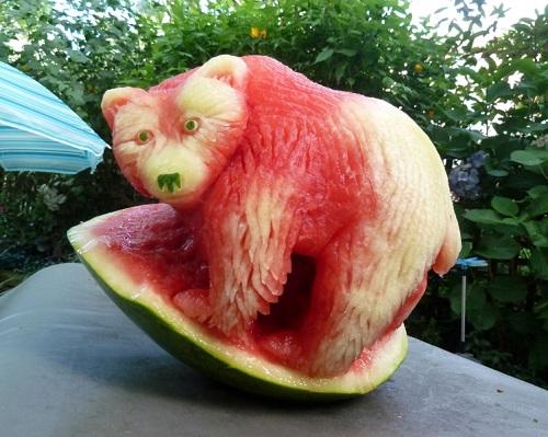 درست کردن شکل با هندوانه