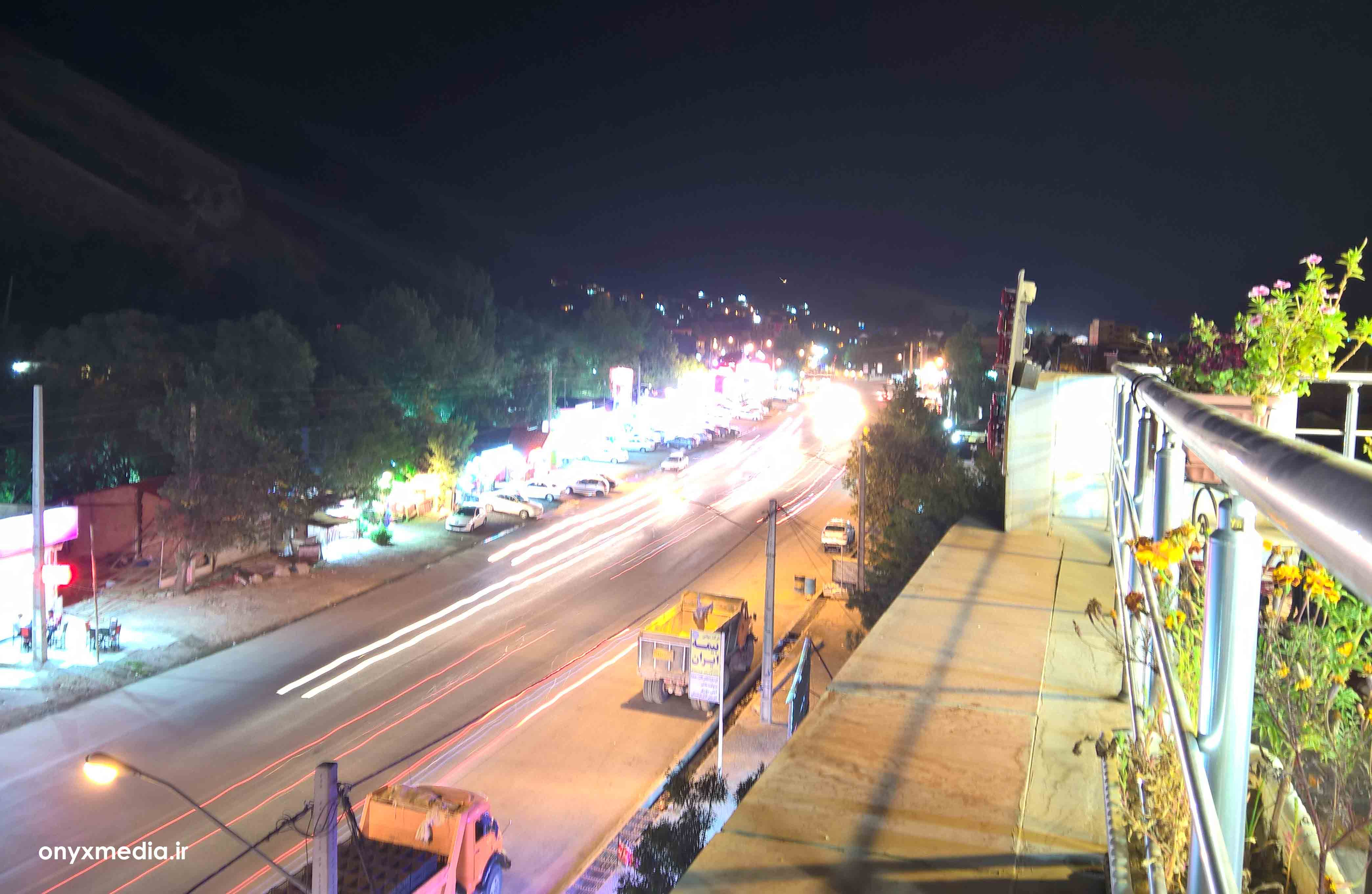عکس زیبا از شب های تفرجگاه بند ارومیه