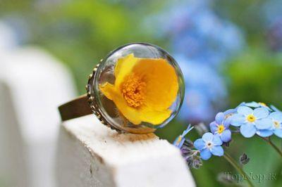 عکسهای جواهرات شیشه ای با گلها