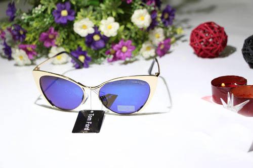 عینک زنانه تام فورد چیتا شیشه آبی