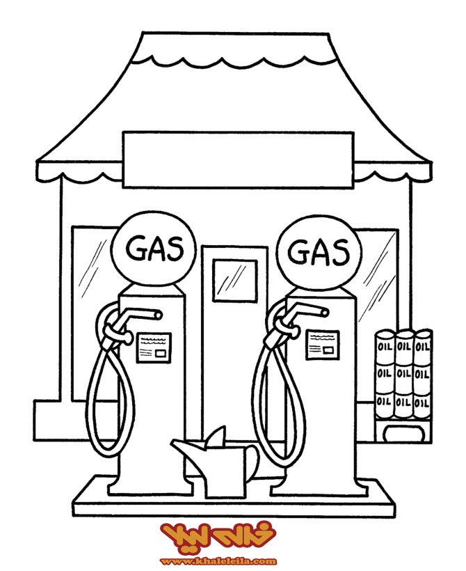 کاردستی در مورد تشدید رنگ آمیزی نقاشی های سوخت و پمپ بنزین