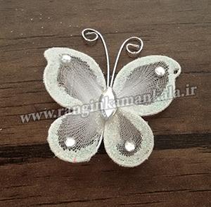 پروانه های توری سفید