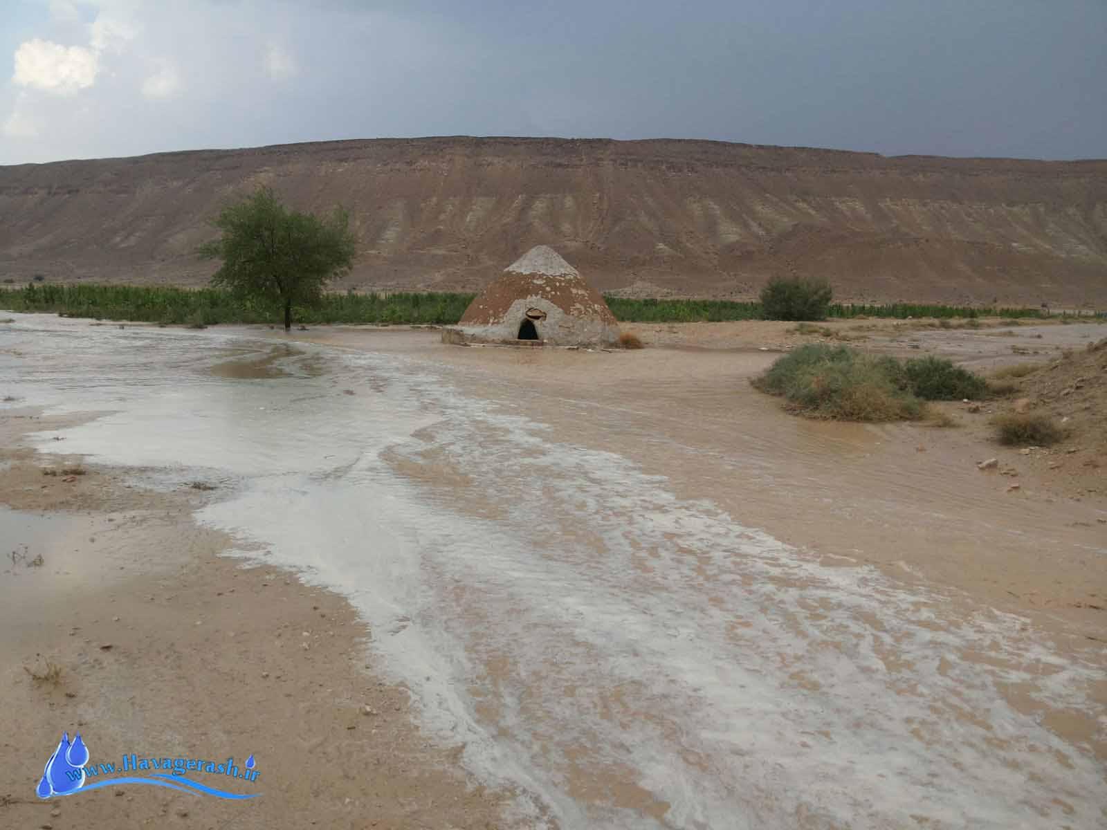 گزارش تصویری از بارش شهرستان گراش