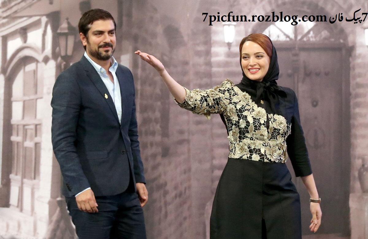 تصاویر بسیار جنجالی  از بهنوش طباطبایی و مهدی پاکدل در جشن حافظ
