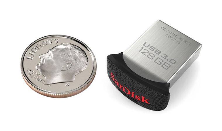 کوچکترین فلش 128 گیگابایتی دنیا توسط SanDisk معرفی شد