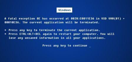 صفحه آبی ویندوز windows blue screen