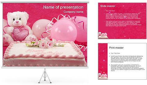 قالب پاورپوینت کیک تولد
