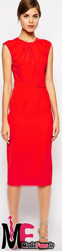 مدل لباس مجلسی قرمز