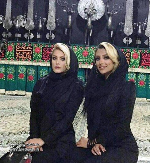 عکس جنجالی الهام عرب ( مانکن ایران ) در هیئت عزاداری , چهره های معروف