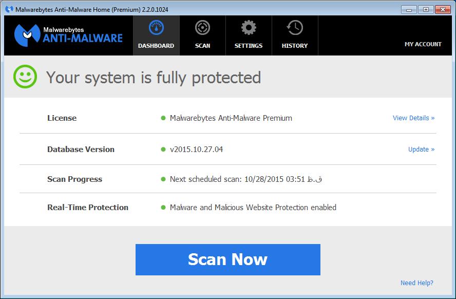 دانلود اپدیت آفلاین Malwarebytes Anti-Malware بصورت کرک شده (نسخه جدید)