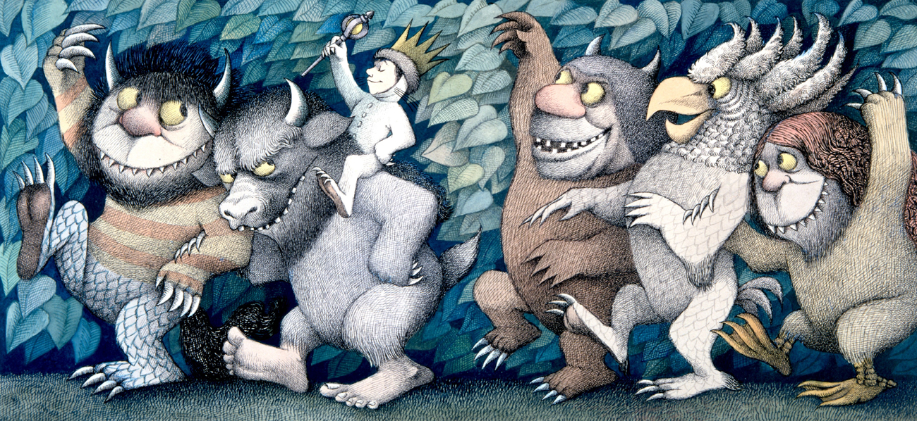 Where the Wild Things are   Maurice Sendak  illustrations - daydreamer - خیالباف - تصویر سازی