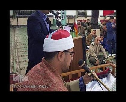 استاد محمود شحات انور در محفل قرآنی نزاجا-مشهد/آبان94