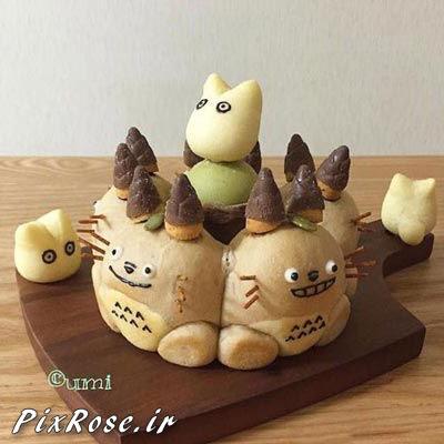 نان های عروسکی,هنرنمایی با غذاها,هنرنمایی با خمیر نان,خلاقیت با نان