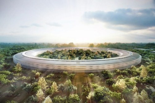 ساختمان جدید شرکت اپل با نام( سفینه فضایی)