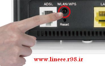 کاربرد دکمه WPS روی مودم وایرلس,Use the WPS button on the wireless modem,ترفندهای اینترنت,اموزش مودم وایرلس,مودم وایرلس,افزایش سرعت اینترنت,www.lineee.r98.ir,هک رمز مودم وای فای