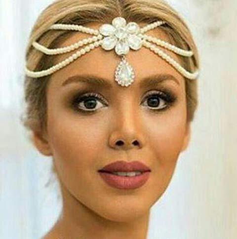 شیک ترین مدلهای شینیون و تاج عروس ایرانی , آرایش و زیبایی
