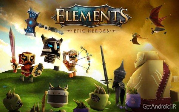 دانلود Elements: Epic Heroes 1.5.3 - بازی گرافیکی قهرمانان حماسی برای اندروید + دیتا