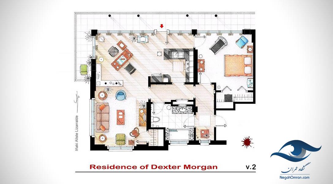 پلان خانه سریال dexter