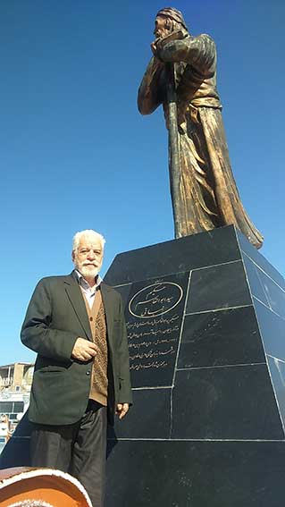 مجسمه سید ابوالقاسم نباتی در روستای سیه رود