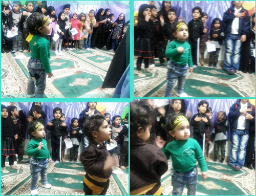 حلما کوچولو در حال سینه زنی با بقیه بچه ها کانون رهپویان وصال سید انجوی sineani_koodakan