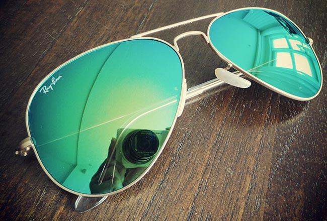 عینک شیشه سبز طرح ریبن 3025