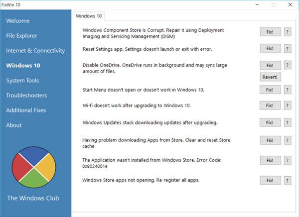 ابزار تعمیر ویندوز 10 FixWin 10 for Windows 10