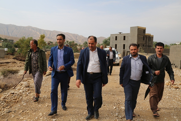 بازدید فرماندار جم از وضعیت سد روستای چاهه