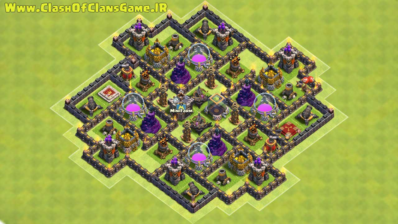 iMexi's Symmetrical TH9 Dark Elixir Farming Layout