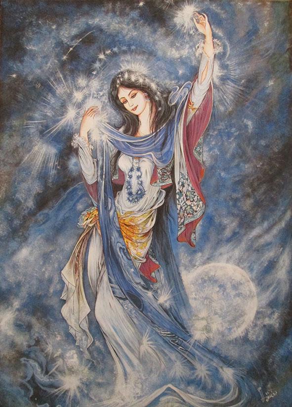 نقاشی استاد فرشچیان از امام رضا