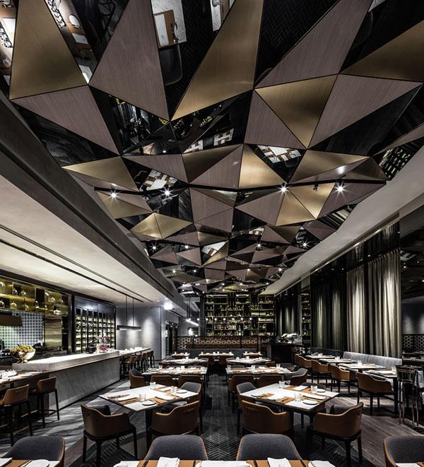 طراحی زیبای رستورانی در کالیفرنیا