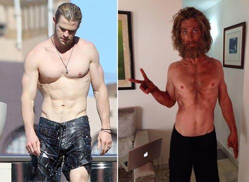 کاهش وزن عجیب کریس همسورث ستاره هالیوودی , سینمای جهان