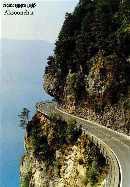 عکس جاده های پرپیچ و خم