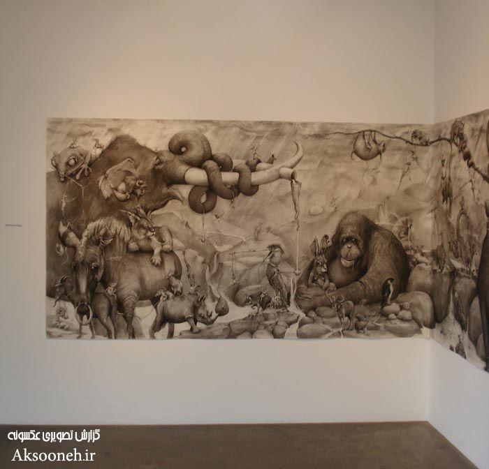 نقاشی دیواری بسیار زیبا از خانم Adonna Khare
