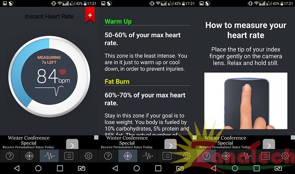 Heart Rate برنامهای برای اندازهگیری ضربان قلب !! , نرم افزار