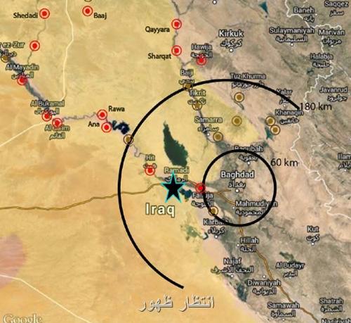 نقشه موضع داعش