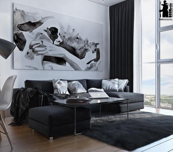 دکور هنری و سیاه سفید برای خانه
