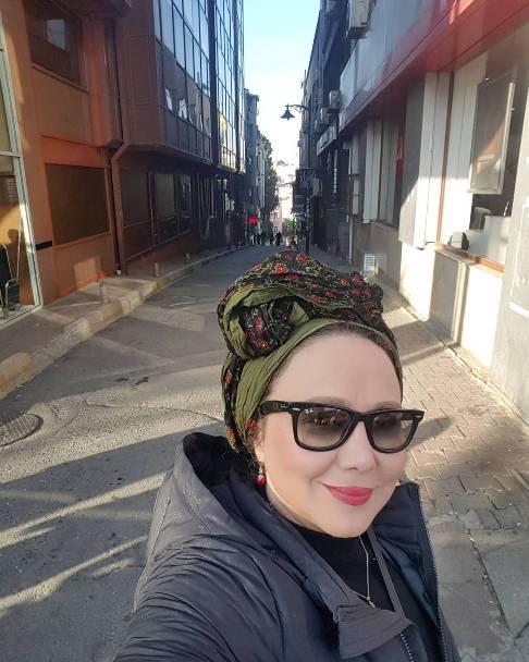 عکس سلفی بهنوش بختیاری در خیابان , عکس های بازیگران