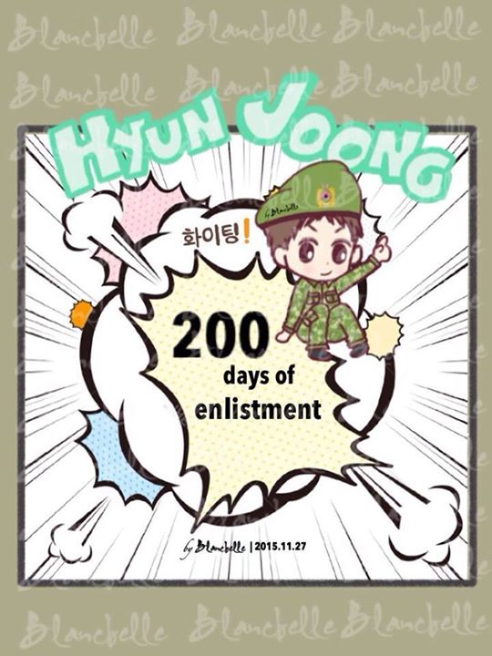 [blancbelle Fanart] Hyun Joong 200 days in Army [2015.11.27]