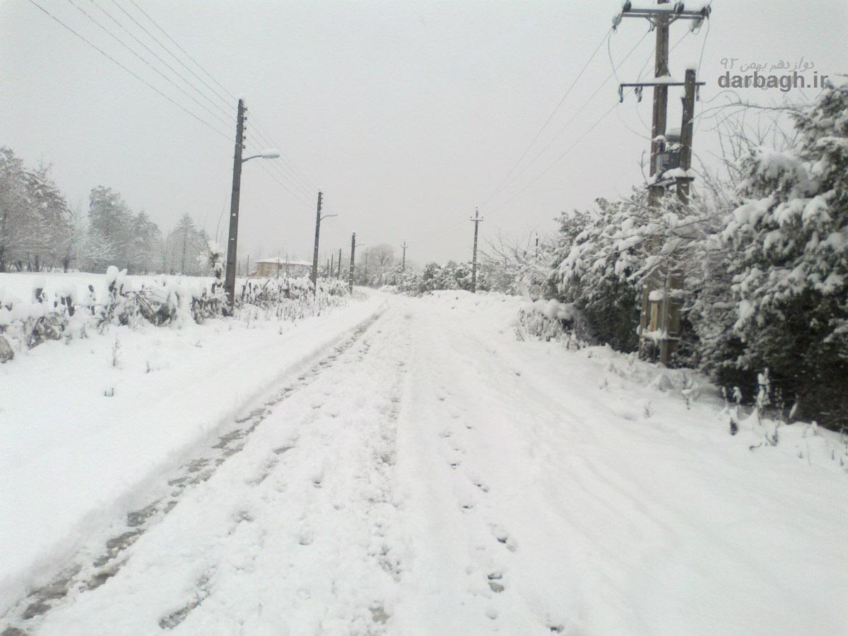 barf darbagh ir 12 13  برف دارباغ 12 بهمن 92
