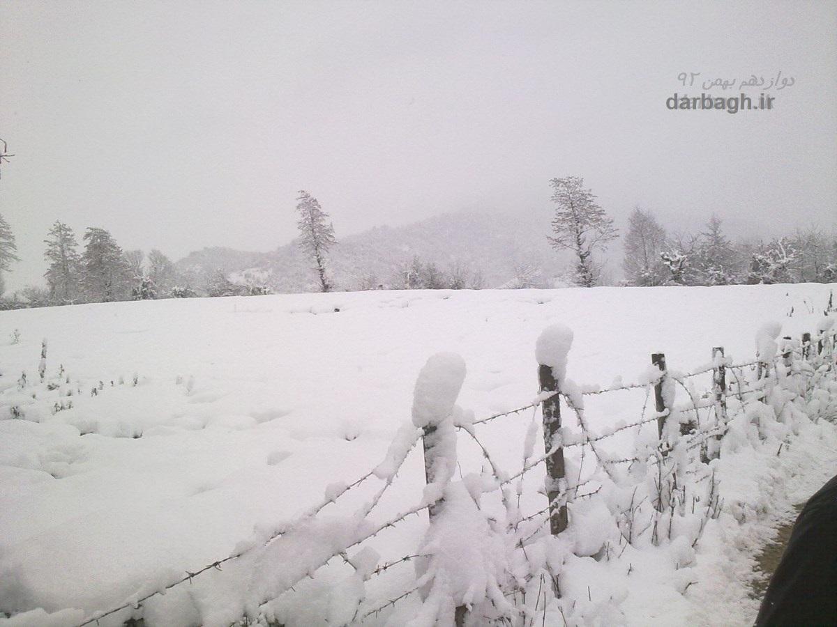 barf darbagh ir 12 27  برف دارباغ 12 بهمن 92
