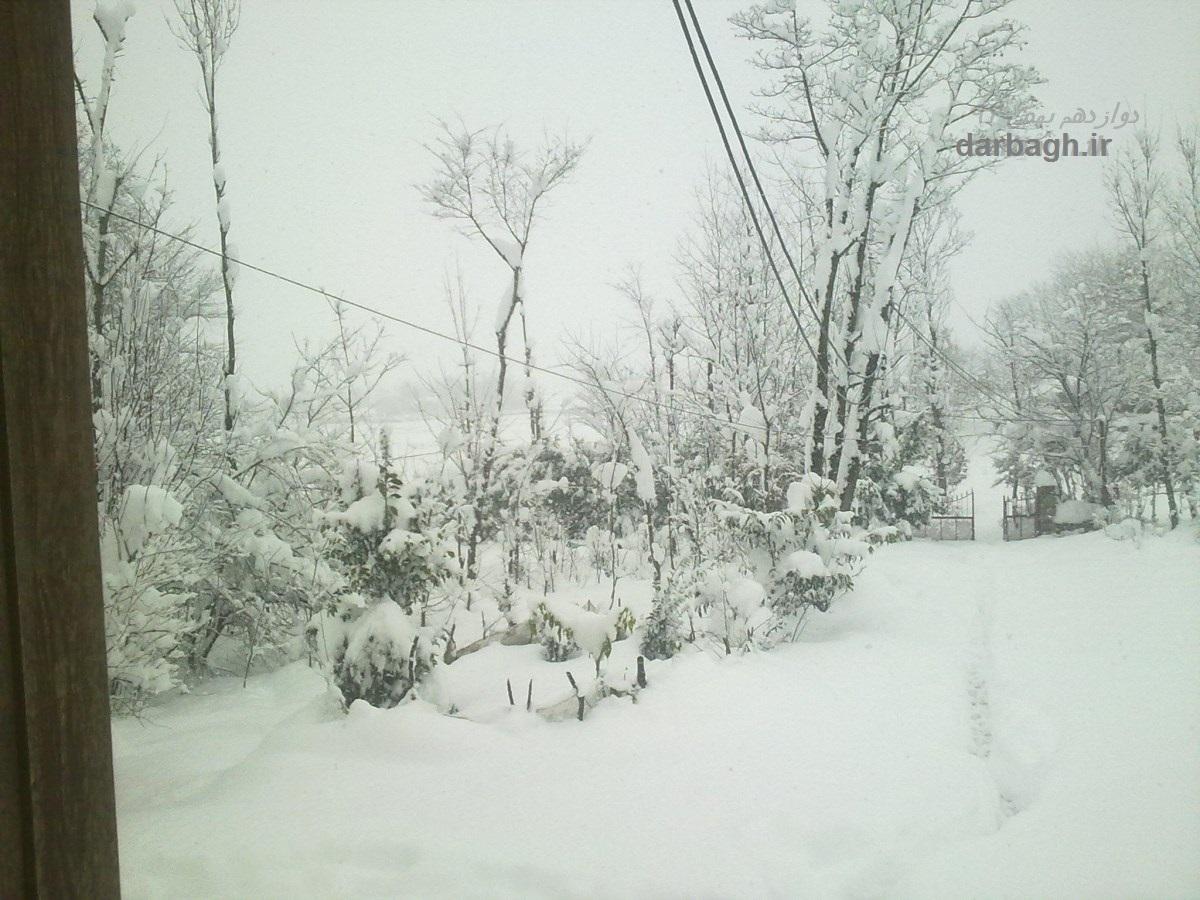 barf darbagh ir 12 30  برف دارباغ 12 بهمن 92