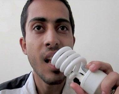 خوردن لامپ ایمان صدیقی