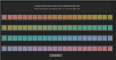 آزمون تشخیص و تفکیک رنگ