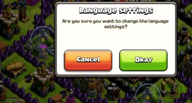 تغییر زبان و کشور روی Loot تاثیر دارد در کلش اف کلنز